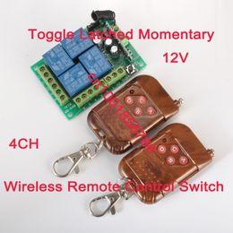 Control remoto 315 en Línea-Control Remoto Inalámbrico 315 / 433MHz Control 12V 4Channels (4 Relés) 1 Receptor 2Transmisores