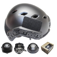 One Size base jump helmet - Fast Base Jump Airsoft BJ With Picatinny Wing loc ARC Rail Adapter NVG Mount Helmet