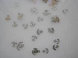 Wholesale ms Silver Cute Design Nail Art Metal Sticker Nail Art Decoration