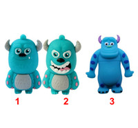 Wholesale Factory price real GB GB GB GB cartoon Cattle Sulley Monsters University USB Flash Drive Pen Drive gift box