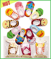 Wholesale Mix styles pair Nissen Cute non slip baby cartoon boat socks boy girl cotton floor socks skidproof socks infant kids toddle socks cm