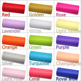 Wholesale TULLE Roll Spool quot x25Y quot x75 Tutu Wedding Gift Bow Craft Bridal Decorating Party Bow for color