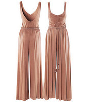 Sleeveless Long Pants 2013 fashion Spring elegant ladies vintage jumpsuit long dress Women Boho Pleated Maxi long dress Hot Sell