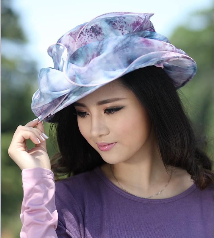 Fashion Dress Women Winter Dress Hat For Church Chapeau Hat Women ...
