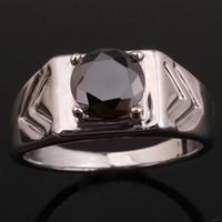 Men's black onyx rings - New Design Black Onyx White Gold Plated Men s Sterling Silver Ring Man NAL Multi Sizes R513