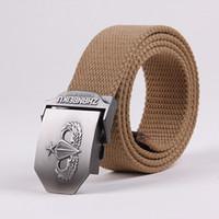 Wholesale ARMY Canvas Belts Metal Buckle US Paratrooper Colors cm Free Size Fashion Accessories Mens Belt
