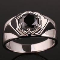 Gift black onyx rings - Hot Sale Black Onyx Men Genuine Sterling Silver Ring Man NAL Size R515