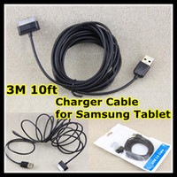 Wholesale Charger Cable for Samsung Tablet P1000 M ft Extra Long Extension Data Sync Charging Cords for P6200 P6800 P7300 Galaxy Tab Plus
