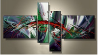 Wholesale 100 Hand Painted Acrylic Abstract Oil Painting on Canvas Wall Paintings Modern Set Piece Wall Art Selling Online Cheap Price