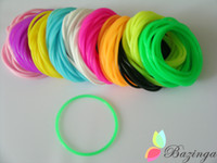 Wholesale New Arrival Fluorescence Color Rubber Hair Bands Silicone Elastic Bracelets Cheap Hair Jewelry Mix Color