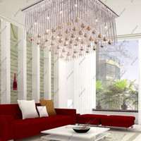 "Modern Hotel Silver 15 3 4 "" Square Super Glossy Modern Living K9 Crystal Ceiling Lamps Chandelier 1pcs GHJC188"