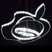 Hotel apple chandelier - 2013 Creative Design Apple LED crystal chandelier Modern Living room pendant lamp PL307