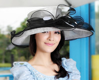 Wholesale New Arrival Church Hat Sinamay Hat Women Summer Hat Newly Designed Sinamay With Organza Hat Becautiful Hearwear For Summer Women Hat
