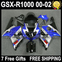 7gifts+ Seat Cowl For SUZUKI K2 Blue silver 00- 02 GSXR1000 00...