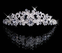 Rhinestone/Crystal Crown  Free Shipping Each one Butterfly Crown Combs Wedding Bridal Tiara Jewelry Crystal Hair Ornaments Wedding Dress Accessories Each buyers to pu