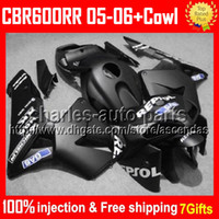 7gifts+ Cowl 100% Injection For HONDA CBR600RR F5 05 06 Matte...
