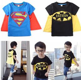 Wholesale christmas baby cloth gift Halloween boys short sleeve t shirt Children superman batman tops Kids Summer fashion garment lcagmy T pc