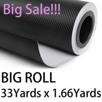 Wholesale Sale Fedex D Twill Weave carbon fiber vinyl bubble free big Roll Pink BLACK Wrap Sheet m x m