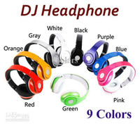 Wholesale Stereo DJ Headphone Noise Noise Canceling Over Ear Headset with Factory Sealed Retail Box Control Talk Carrying Case Colors