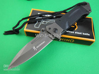 Wholesale Top BROWNING DA35 Fast Open Cr14Mov blade G10 Handle Folding Folder Knife Pocket Outdoor Camping Knife knives tools new in Original box