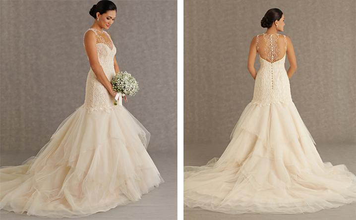 2013 2014 Pearl Wedding Dresses Mermaid Design Transparent ...