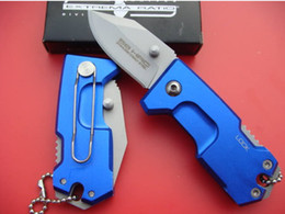 Wholesale EXTREMA RATIO Mini Folding knife Pocket Hunting Knives C HRC Plating Black Blue Red Titanium Blade Aluminium Handle freeshipping