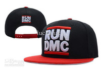 Wholesale RUN DMC Snapback Black Red caps beanies knit snapback hats sports teams caps winter hats fashion cap