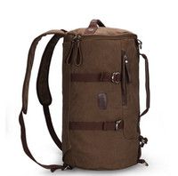 Wholesale MK High quality professional mountaineering backpack bag man bag canvas bag retro Korean drum cylindrical bag shoulder bag Knight