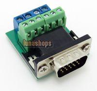 IDE Cable Desktop  Solderless Welding Free VGA Male Module With ID-Bit plug DIY 2*3+4pin Adapter