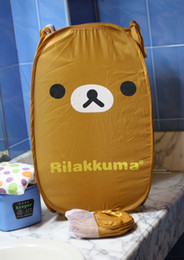 Wholesale Hot Rilakkuma San x Relax Bear Brown Foldable Clothes Laundry Storage basket