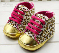 Girl Spring / Autumn Cotton Wholesale - New Baby girls shoes Leopard Toddler shoes soft sole baby Walkers Wear Comfortable kids Casual Shoes