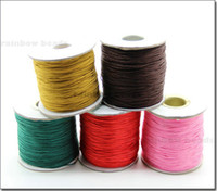 Wholesale Muticolor Chinese knot cord Silk Beading Cord Thread meters roll