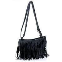 Wholesale Girl Tassel Shoulder Messenger Clutch Baguette Bag Women lady Satchel