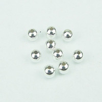 Wholesale mm silver plated spacer beads round Smooth bead Copper Beads Loose Beads jewelry findings