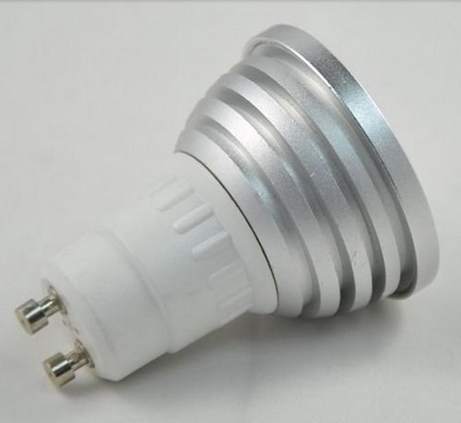 bult10PCS LED / Lot - E27 / E26 / E14 / MR16 / GU10 / B22 à distance 5W RVB Cont