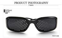 Wholesale 4pcs Eyes Exercise Black Pinhole Glasses Vision Eyesight Improve health care glasses