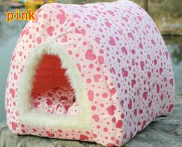 Wholesale Promotional Lovely Thick Velvet Pet Nest Warm Kennel Dog Cat Houses Quality Short Plush pink L