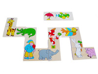 Wholesale Animal Solitaire Puzzle Wooden Toy Baby Educational Toy Good Gift CM CM CM