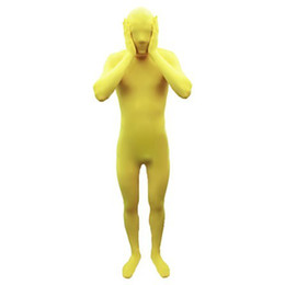 NEW.Unisex Yellow Lycra Suit Full Body Zentai Spandex Fancy Dress