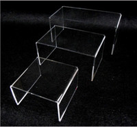 Tableware acrylic cosmetic display - Three piece acrylic purse frame U shaped water table Showcase Special jewelry display shelves cosmetics set