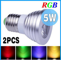 Wholesale E27 E26 E14 MR16 GU10 B22 Remote Control W RGB Dimmable LED Lamp Spot Light Bulb Flas