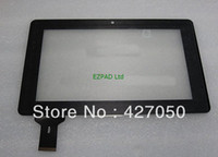 Wholesale 10PCs quot Ainol novo7 novo ELF elf tablet multi touch screen digitizer touch panel glass Replacement code N3626A A00 V1 Free Sh