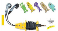 Wholesale MP3 MP4 Cable Winder Holder Organizer Silicone cartoon animals Earphone Cord for iPhone for iPod
