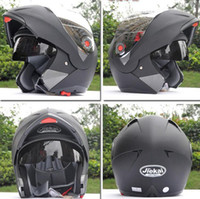 Wholesale ECE Helmets JIEKAI undrape face helmet Motorcycle Helmet motorbike helmet motocross Off Road helmet MOTO Racing Helmets ABS silver lens