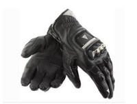 Wholesale Dainese GUANTO STROKE titanium alloy metal leather motorcycle racing gloves motorbike glove riding motorcross cycling bicycle Gloves