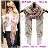 Wholesale European and American winter female leopard scarf color wide super thin cotton voile scarf shawl