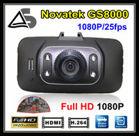 Wholesale In Stock Full HD Car DVR Camera GS8000 X1080P fps G Sensor IR Night Vision DVR Video Recorder inch Degree Angle