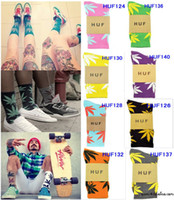 Socks Unisex Cotton 12PCS Worldwide Free HUF Socks many colors mens huf socks streetwear hip hop sock Plantlife knit pattern TOP QUALITY