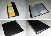 albums names - 400pcs business name credit card holder keeper organizer book album case black office supply gift PU leather retail