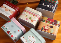 Wholesale 6pcs Christmas gift Cute suitcase zakka Cracking process Storage Iron Box Stylish Candy toy metal bag case